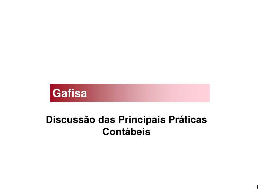 Gafisa  Discussão das Principais Práticas            Contábeis                                         1