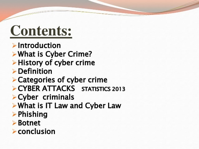 conclusion on cyber law Conclusion of cyber bullying the research we had collected had made us think about what we can do to stop bullying in schools and in the areas people.