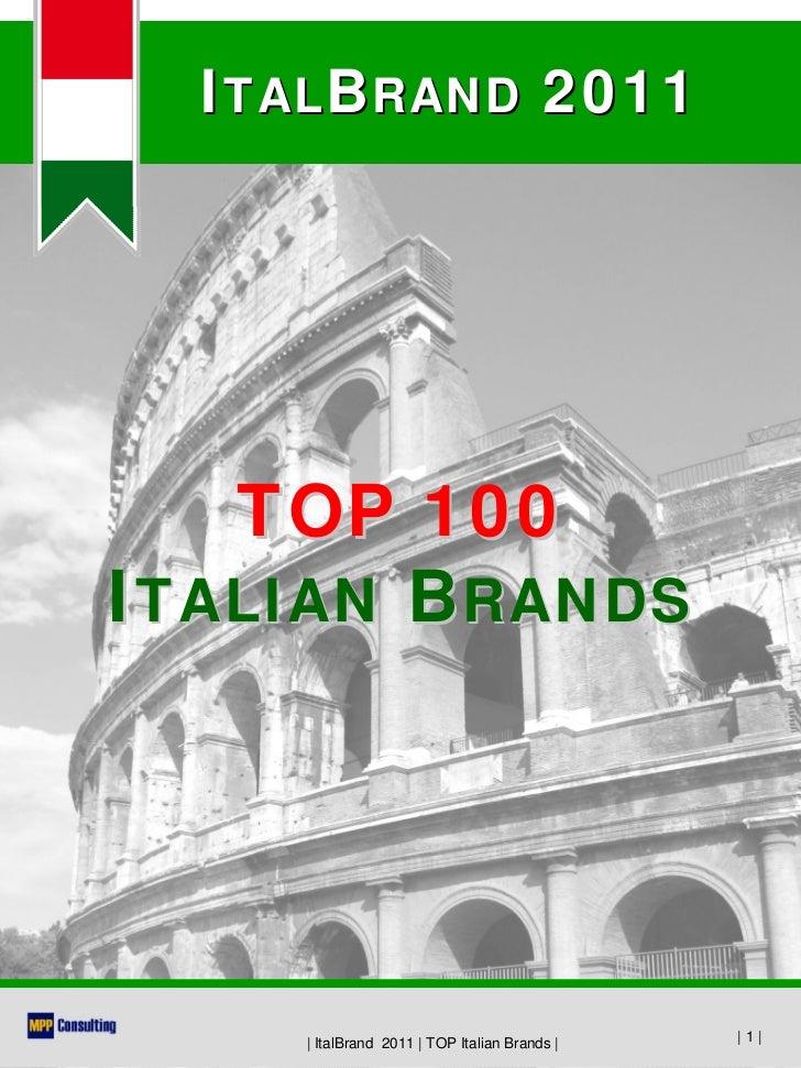 100 Top Model Search: TOP 100 Italian Brands