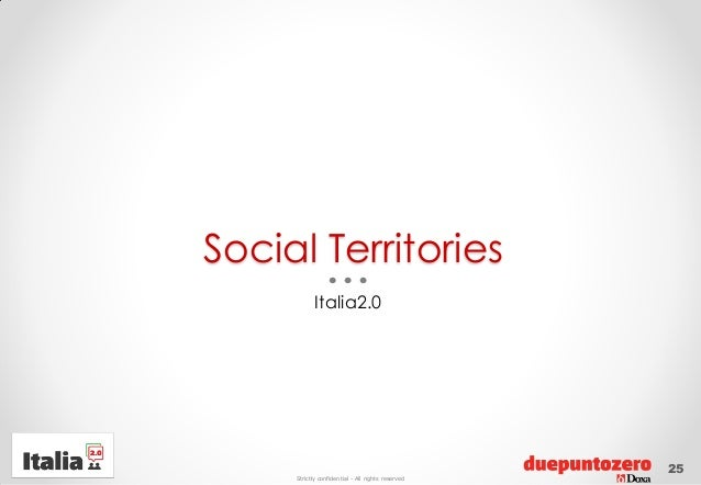 Strictly confidential - All rights reservedSocial TerritoriesItalia2.025