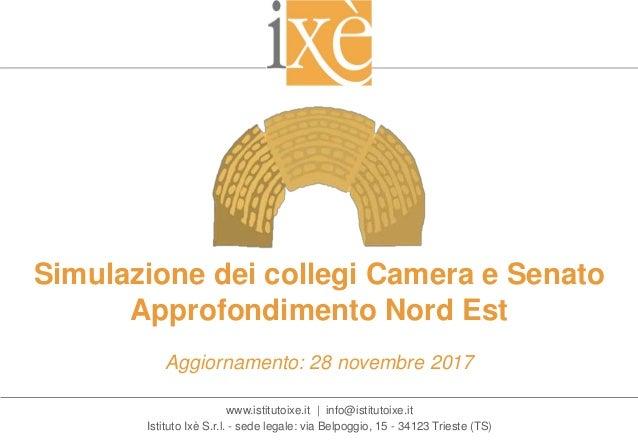 www.istitutoixe.it | info@istitutoixe.it Istituto Ixè S.r.l. - sede legale: via Belpoggio, 15 - 34123 Trieste (TS) Simulaz...