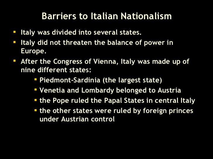 Essay about nationalism in italy