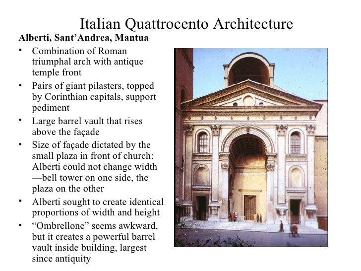 Italian quattrocento for Architecture quattrocento