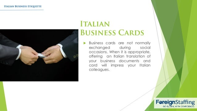 Italian business etiquette 5 business cards colourmoves