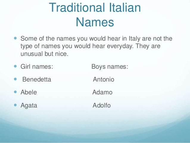 Italian Boy Name: Italian Culture By Ella Freya Ava