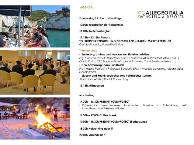 Italian-German Hospitality & Real Estate Forum in Rimini, Italien | 23./24. Juni 2016 Slide 3