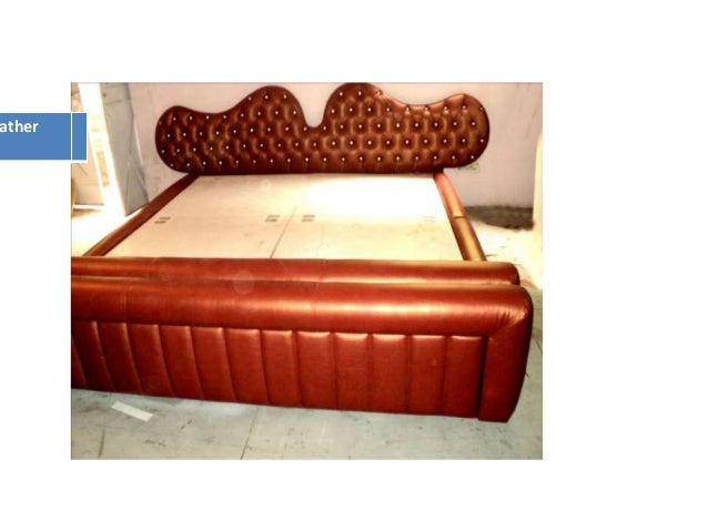 Italian leather bed with chesterfield effect 1