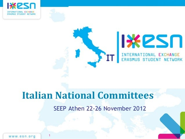Italian National Committees SEEP Athen 22-26 November 2012 1 ,
