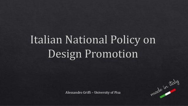 Alessandro Griffi – University of Pisa