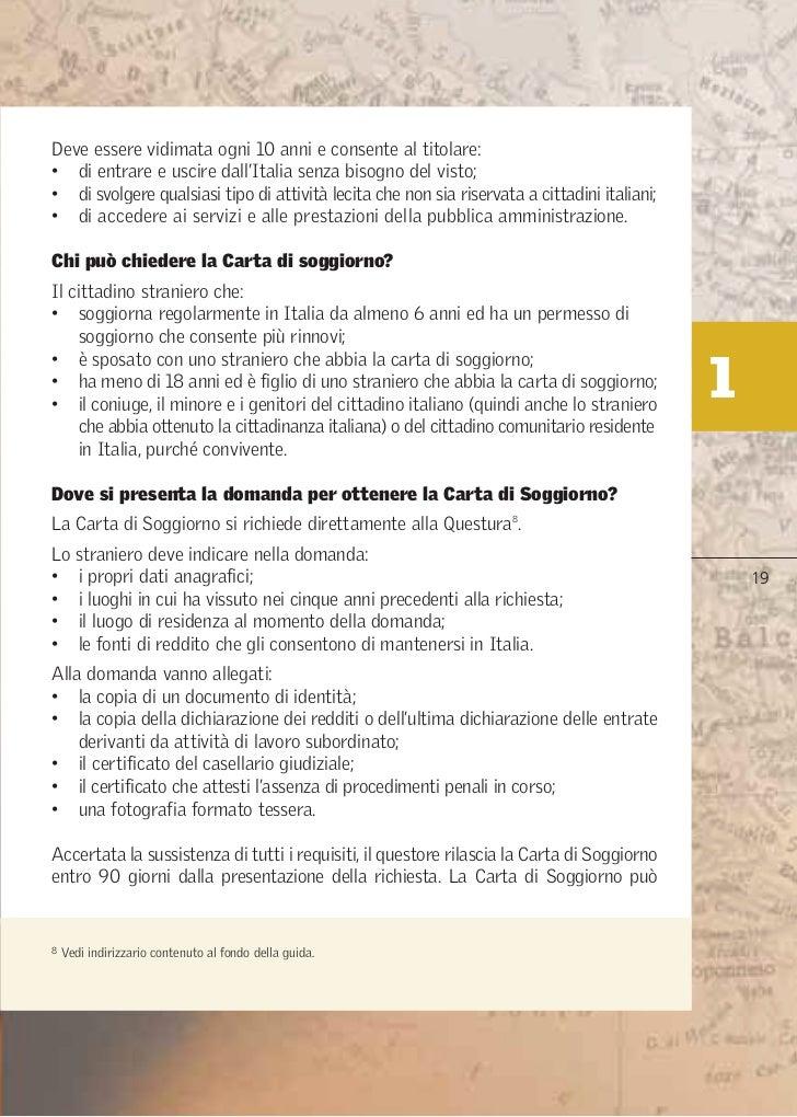 Emejing Carta Di Soggiorno Per Matrimonio Images - Modern Home ...