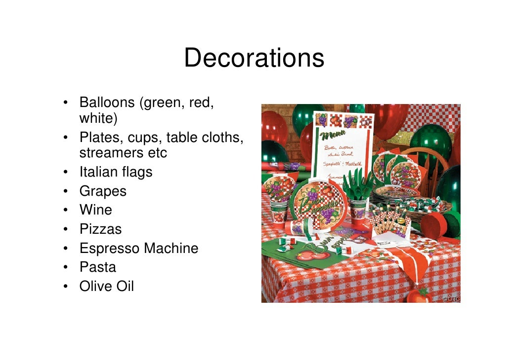 sc 1 st  SlideShare & Italian party ideas