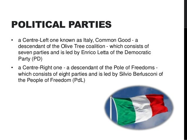 political and legal system of italy As the introduction of a system of public funding to political parties has not  implied  in order to fully appreciate the legal status of political parties in italy, it  is.