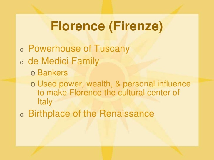 individualism in the italian renaissance and 'individualism' was pretty well the central plank of the renaissance the key philosophy of the renaissance was humanism, which emphasized that people should think for themselves, rather than just.