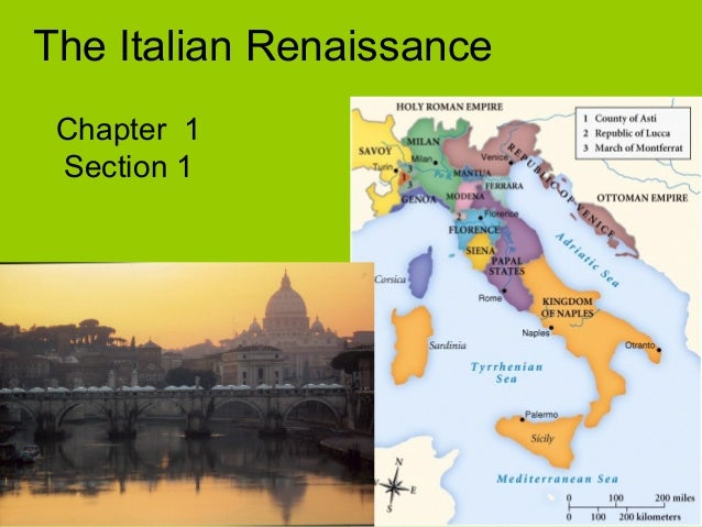 The Italian Renaissance Chapter 1 Section 1