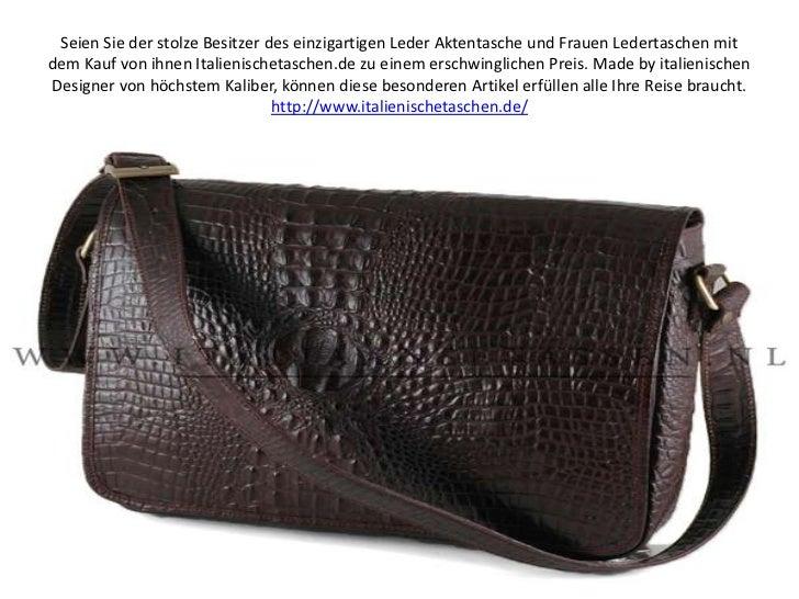 Seien Sie der stolze Besitzer des einzigartigen Leder Aktentasche und Frauen Ledertaschen mit dem Kauf von ihnen Italienis...