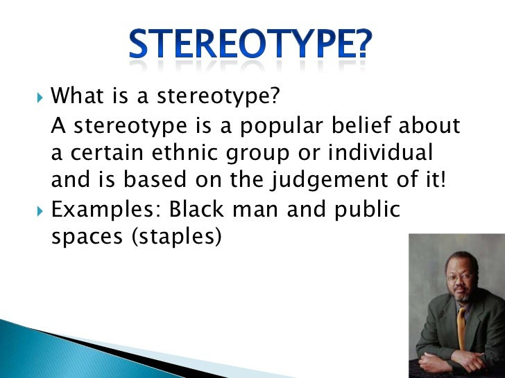 Example Essay On Stereotypes