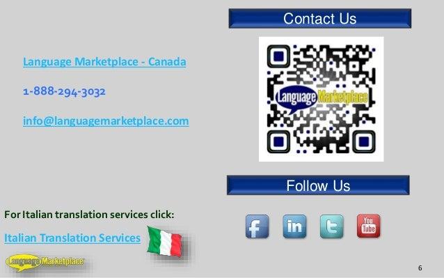 Italian Translation English To Italian: Italian Translation Services