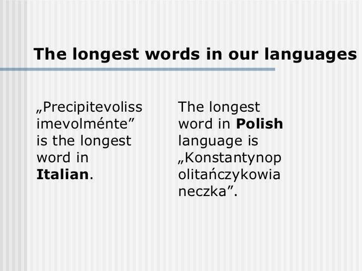 Italian vs. polish customs and languages