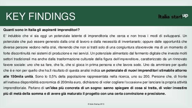 Italia startup indagine quanti potenziali imprenditori for Quanti sono i senatori in italia