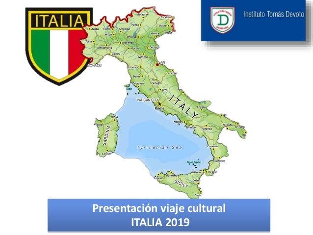 Presentaci�n viaje cultural ITALIA 2019