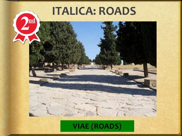 Italica System Of Italica Spain Map With Road on