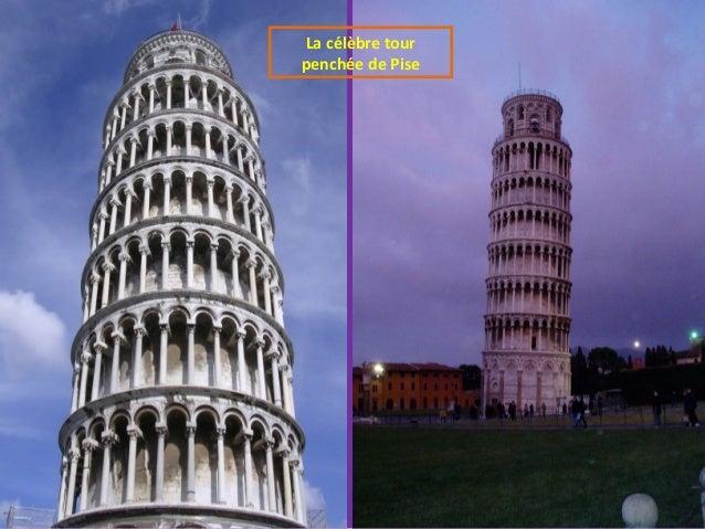 La célèbre tour penchée de Pise