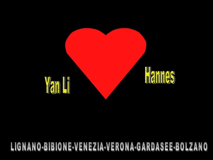 Yan Li Hannes LIGNANO-BIBIONE-VENEZIA-VERONA-GARDASEE-BOLZANO