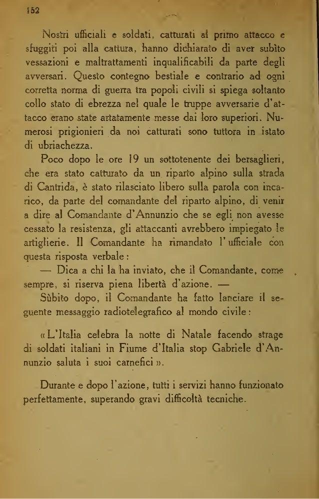 Italo E.Torsiello - Gli ultimi giorni di Fiume dannunziana - Cronache e documenti fiumani (1921)
