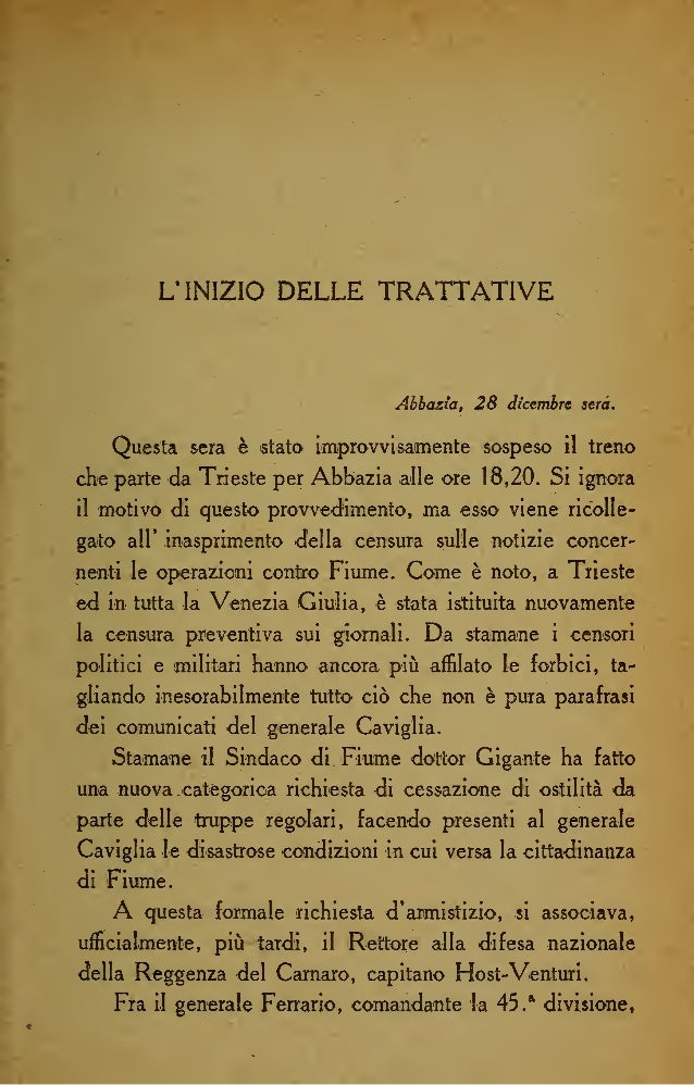 donato il territorio da es&c occupato dopo il trattato di Rapallo. Intorno alla Reggenza del Carnaio la sera del 24 venne ...