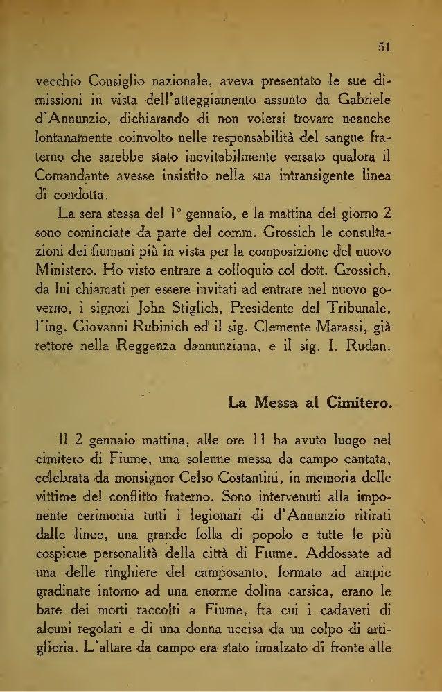 58 Mentre VIppos e i feriti lasciavano la banchina, i ma- rinai <lelle navi defezionate rimasti a Fiume si riunivano sulla...