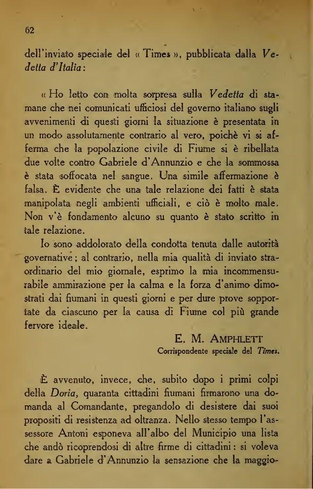 69 della Reggenza. Il Comando della città voleva imporre alla Dante che ordinasse aV Andrea Doria la cessazione del fuoco,...