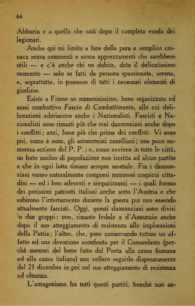 DIARIO DI ENRICO BURICH Fiume. 25, Si combatte. Airinizio <Iel combattiménto, al primo colpo, il cielo d'Italia si è oscur...