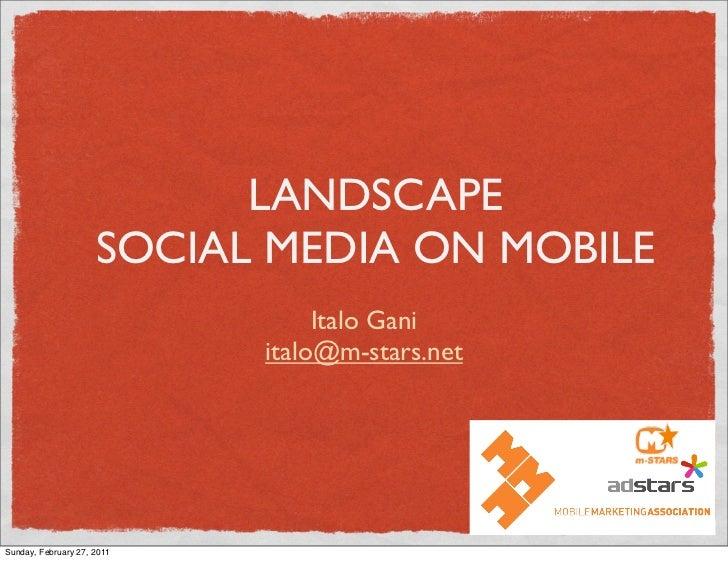 LANDSCAPE                     SOCIAL MEDIA ON MOBILE                                 Italo Gani                           ...