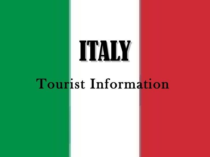 ITALY Tourist Information
