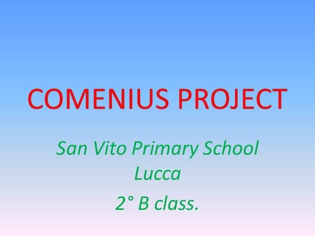 San Vito Primary School Lucca 2° B class.