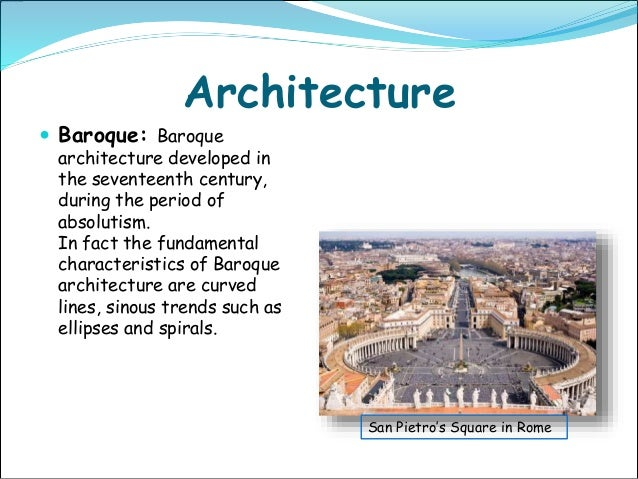 Italy mia project for Characteristics of baroque period