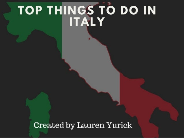 Top Things to Check out in Italy