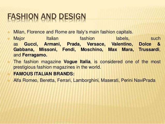 Fashion capitals of the world ppt 63