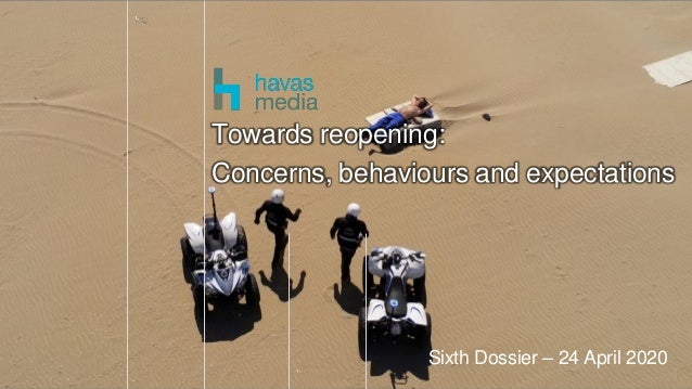 1 Sixth Dossier – 24 April 2020 Towards reopening: Concerns, behaviours and expectations