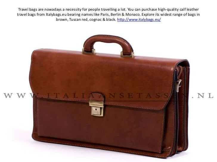 Travel bags are nowadays a necessity for people travelling a lot. You can purchase high-quality calf leather travel bags f...