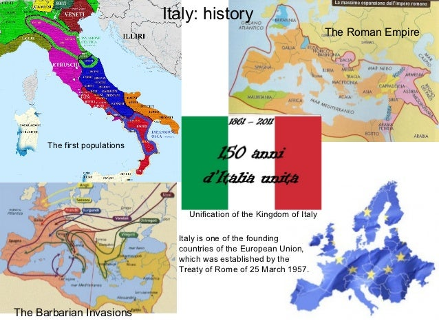 Italy: history                                                                        The Roman Empire      The first popu...