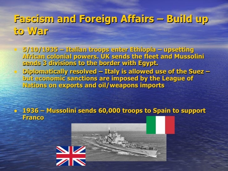 """""""the expansionist policies of the fascist Chapter 21: the impact of fascism on italian foreign policy: the   hitler to turn his fearsome doctrine of racial expansionism into political reality."""