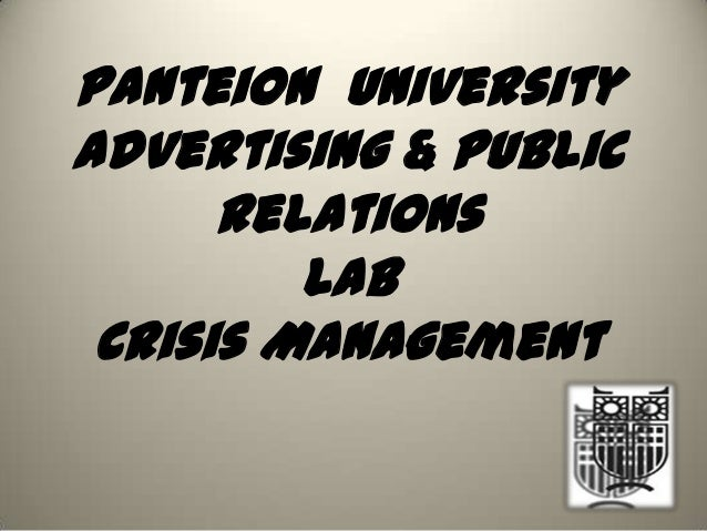 Panteion UniversityAdvertising & PublicRelationsLabCrisis Management