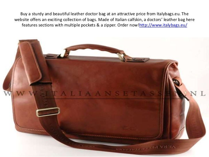 Buy a sturdy and beautiful leather doctor bag at an attractive price from Italybags.eu. The website offers an exciting col...