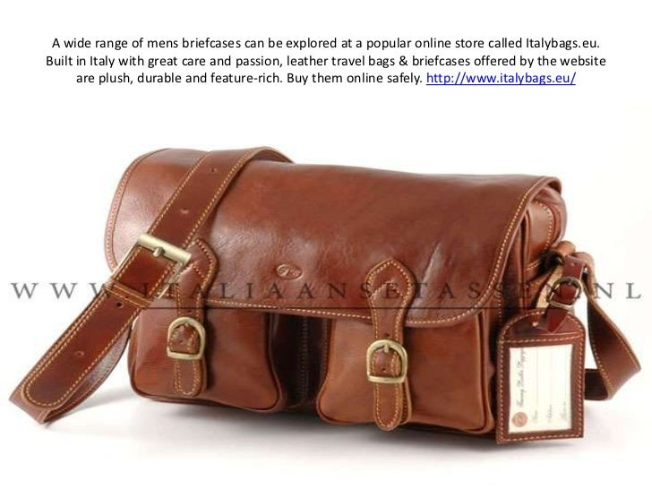 A wide range of mens briefcases can be explored at a popular online store called Italybags.eu. Built in Italy with great c...