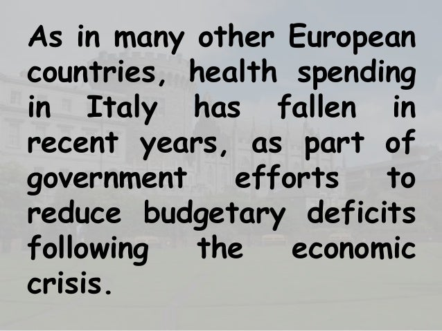 The economic situation in italy