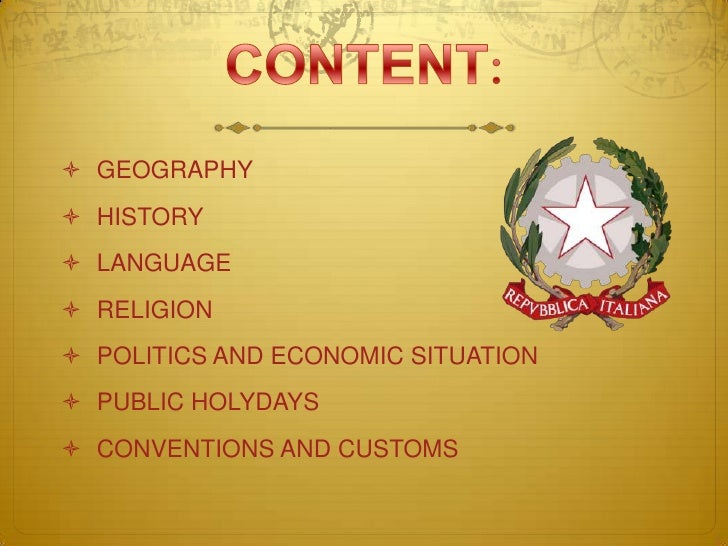 Italy-presentation Slide 2