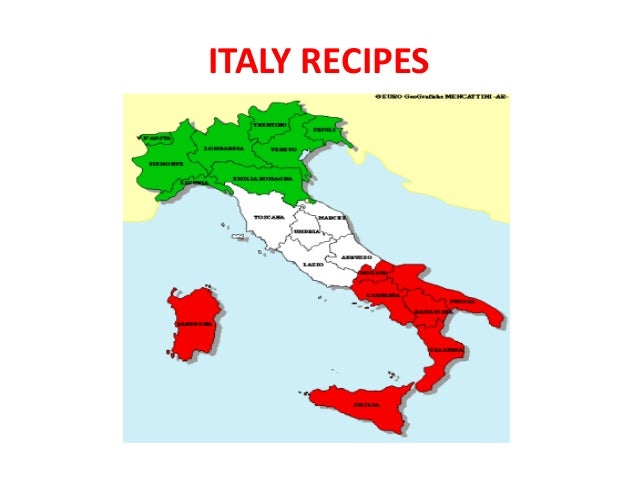 ITALY RECIPES