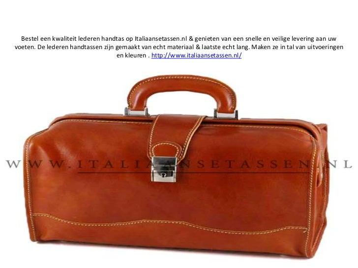Bestel een kwaliteit lederen handtas op Italiaansetassen.nl & genieten van een snelle en veilige levering aan uw voeten. D...