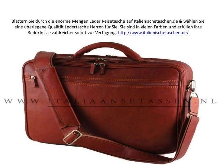 Blättern Sie durch die enorme Mengen Leder Reisetasche auf Italienischetaschen.de & wählen Sie eine überlegene Qualität Le...